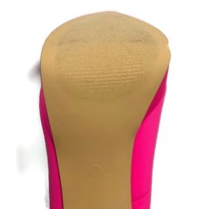 Size 9 Hot Pink Peep Toes